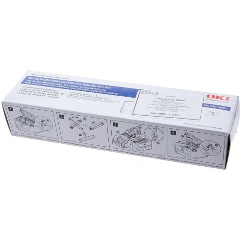 Okidata B420dn Toner Cartridge: Avg. life (3,500 pg) - OEM NEW - PN: 43979101